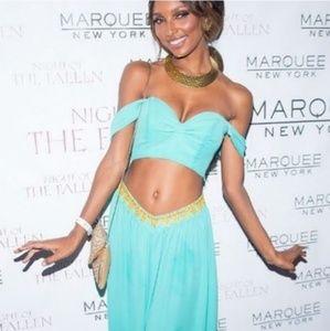 Women Aladdin Jasmine Princess Halloween Crop Top